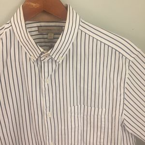 BR Navy Vertical Striped Button Down